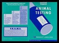 view Animal testing : product labelling / Tesco.
