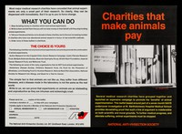 view Charities that make animals pay / National Anti-Vivisection Society.