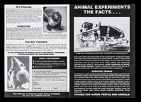view Animal experiments : the facts... / The Friends of Animals Under Abuse (FAUNA)