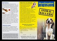 view Huntingdon Life Sciences : animal killers / Stop Huntingdon Animal Cruelty.