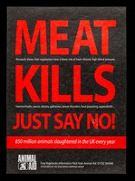view Meat kills : just say no! : 850 million animals slaughtered in the UK every year