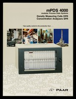 view mPDS 4000 : modular process data systems : density measuring cells DPR, concentration analyzers SPR : take quality control to the production floor... / Anton Paar K.G.