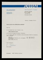 view CAMAG : CAMAG Chemie-Erzeugnisse und Adsorptionstechnik AG : CAMAG, Sonnenmattstrasse 11, CH-4132, Muttenz.