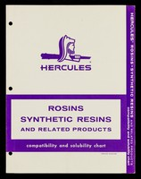 view Rosins, synthetic resins and related products : compatability and solubility chart / Hercules Powder Company.