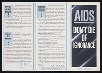 view AIDS : don't die of ignorance : government information 1987