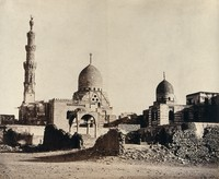 view The mosque of Sultan Qā'it Bāy, Cairo. Photograph by Francis Frith, 1858.