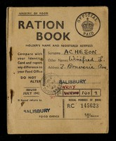 view Ration book / Ministry of Food.