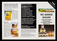 view No added sugar : why we never add sugar to Whole Earth products / Whole Earth Foods Ltd.