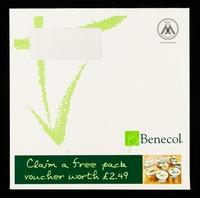 view Benecol : claim a free pack voucher worth £2.49 / Benecol Information Service.
