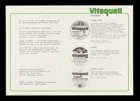 view Vitaquell information / Brewhurst Health Food Supplies, Fauser Vitaquell.