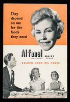 view They depend on me for the foods they need : Alfonal Maizy Brand golden corn oil foods / Alfonal Limited.