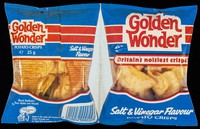 view Golden Wonder : Britain's noisiest crisps : salt & vinegar flavour potato crisps