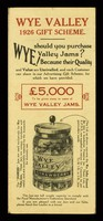 view Wye Valley 1926 gift scheme / Herefordshire Fruit Co. Ltd.