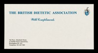 view With compliments / British Dietetic Association.