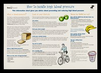 view How to handle high blood pressure : this information sheet gives you advice about preventing and reducing high blood pressure / Dairy Council, Doctor Patient Partnership.