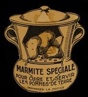view Marmite spéciale pour cuire et servir les pommes de terre : demander la notice : articles de cuisine, poteries, porcelaine