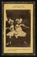 """view Violet and Daisy : English Siamese twins : """"if we have interested you kindly tell your friends to visit us.""""."""
