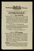 view This evening, Mr. C.H. Adams, will repeat his lecture on astronomy