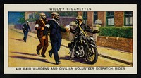 view Air raid wardens and civilian volunteer despatch-rider / W.D. & H.O. Wills.
