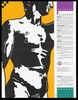One folded sheet containing the silhouette torso of Michelangelo's David and a list of excuses for not practising safe sex; advertisement by the San Francisco AIDS Foundation. Colour lithograph by Larry Stinson and Les Poppas.