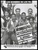 A group of Latin-American, black and white men holding up condoms; advertisement for safe sex and the AIDS Program by La Clinica Whitman-Walker, Inc. Lithograph.