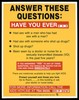 List of questions about sex and drugs and sexually transmitted diseases with a warning to get the HIV test for AIDS; advertisement for the AIDS Hotline by the City of Houston Health and Human Services. Colour lithograph.