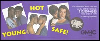 view A heterosexual couple, a gay couple, and a lesbian couple with a latex glove, condom and lubricant representing an advertisement for safe sex by the Gay Men's Health Crisis. Colour lithograph by Charlie Pizzarello, 1993.