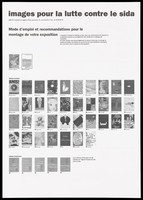 view Instructions on the mounting of an exhibition of AIDS posters by ARTIS. Lithograph by Philippe Délis et associés and René Arch.