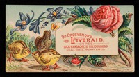 view Dr. Grosvenor's Liveraid : cures sick headache & biliousness: small doses, prompt effect.