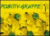 """Yellow sunflowers with the words """"Postiv-Gruppe"""", an [HIV] positive group organised by the AIDS-Hilfe Hamburg e.V. Colour lithograph by Sunnah Wagner and Axel Göttsch."""