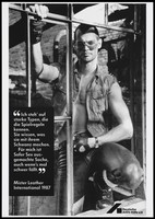 view Mr Leather International promoting safe sex for the Deutsche AIDS-Hilfe e.V. Lithograph, 1987.