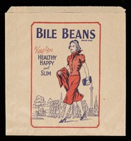 view Bile Beans keep you healthy, happy and slim ... keep you fit & well and are excellent for constipation, headaches and biliousness.