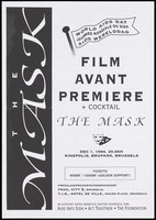 view An advertisement for the premiere of the film 'The mask' on 1 December 1994 at the Kinepolis in Brussels to mark World AIDS Day in support of AIDS. Photocopy.