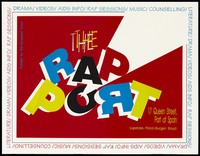 view The rap port, an advertisement about literature, drama, videos, rap sessions and AIDS information available in Trinidad and Tobago. Colour lithograph, ca. 1995.