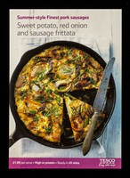 view Sweet potato, red onion and sausage frittata : Summer-style Finest pork sausages : £1.09 per serve : high in protein...