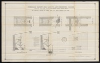 view Morrell's patent self-acting ash screening closet : detailed plan for fixing with small vault below seat