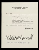view The Universities Federation for Animal Welfare : 7a Lamb's Conduit Passage, London, W.C.1 : dear Sir or Madam ... / Fougasse.