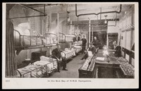 view In the sick bay of H.M.S. Hampshire : post card.