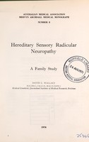 view Hereditary sensory radicular neuropathy : a family study / David C. Wallace.