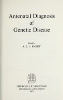 view Antenatal diagnosis of genetic disease / edited by A.E.H. Emery.