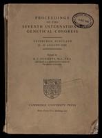 view Proceedings of the Seventh International Genetical Congress : Edinburgh, Scotland, 23-30 August 1939