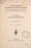 view Allgemeine Konstitutionslehre in naturwissenschaftlicher und medizinischer Betrachtung / von O. Naegeli.