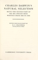view Charles Darwin's natural selection : being the second part of his big species book written from 1856 to 1858