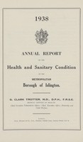 view [Report of the Medical Officer of Health for Islington Borough].