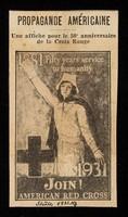 view Propagande Américaine : une affiche pour le 50e. anniversaire de la Croix Rouge.