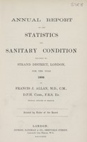view [Report of the Medical Officer of Health for Strand District, London].
