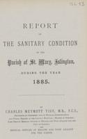 view [Report of the Medical Officer of Health for Islington, Parish of St Mary].