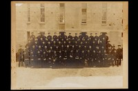 """view Group photographs, including of """"Riding School, Aldershot, March 1887""""; Gymnastics class, Aldershot, 1912; Army Medical Staff, Aldershot, 1888; Medical personnel at Cairo, 1897 or 1898; Lieutenant Colonel W. Alexander with staff, c.1900; Lieutenant Colonel J. Courtenay Haslett with staff (in India, c.1905); the staff of the Military Hospital, Gibraltar (c.1908); and the RAMC Masseurs class at the Royal Victoria Hospital, Netley, 1912"""