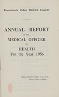 view [Report of the Medical Officer of Health for Hornchurch].