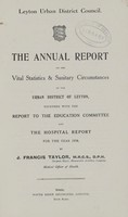 view [Report of the Medical Officer of Health for Leyton].